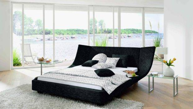 Cocoon Bed Black Leather