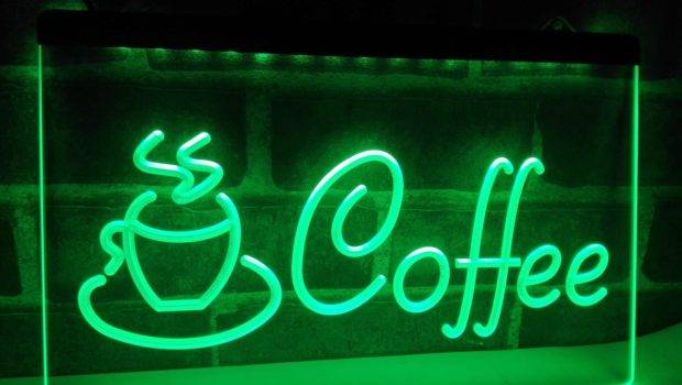 Coffee Cup Cappuccino Cafe Led Neon Light Sign Home