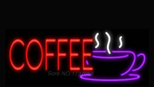 Coffee New Fashion Neon Sign Green Color Light