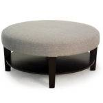 Coffee Table Small Round Fabric Ottoman Enjoy Your