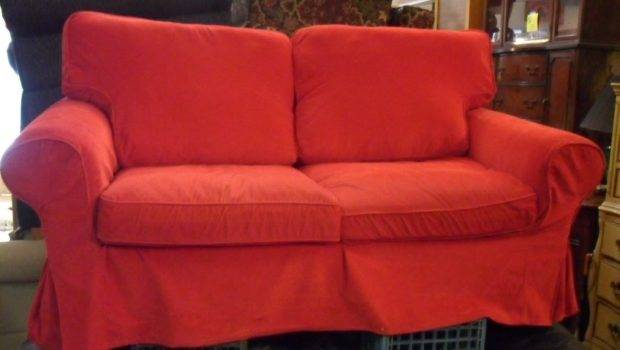 Collectibles Super Cute Love Seat Red Courderoy Slipcover Sold