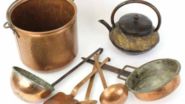 Collection Copper Kitchen Items Includes Hand