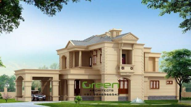 Colonial Style Modern House Elevation