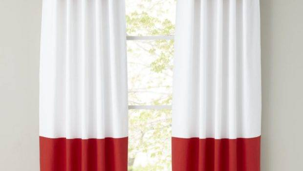 Color Edge Red Curtain Land Nod