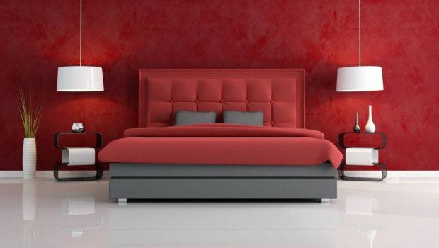 Color Schemes Bedrooms Minimalist Hot Red Scheme Bedroom