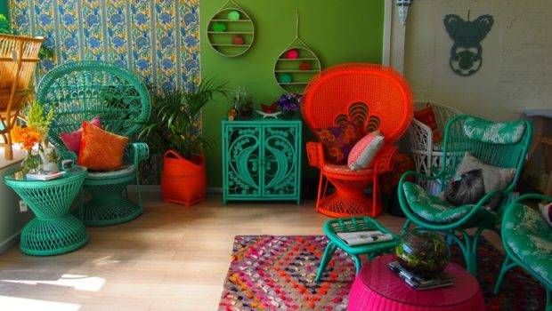 Colored Wicker Furniture Pinterest