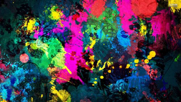 Colorful Paint Splatter First