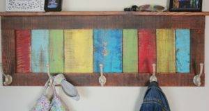 Colorful Rustic Coat Hook Bec Beyondthepicketfence Blogspot