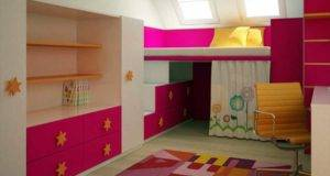 Colorful Teenage Girls Bed Room Design Ideas
