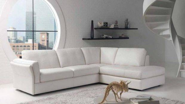 Comfortable Living Rooms White Leather Furniture Decorating Ideas