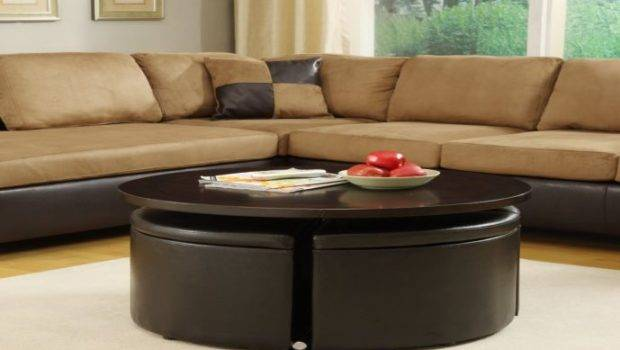 Compact Complete Coffee Table Ottomans