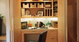 Concealed Closet Home Office Built Desk
