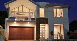 Concrete Modern House Exterior Balcony Decorative Lighting