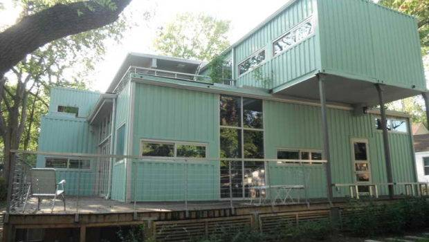 Containers Homes Color Light Green Steel Shipping Home