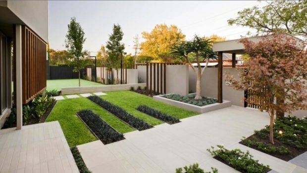 Contemporary Asian Front Yard Decor