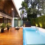 Contemporary Backyard Pool Design Interior Architecture