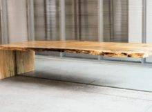 Contemporary Coffee Table Rustic Wood Digsdigs