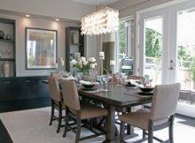 Contemporary Decor Grey Dining Room Idea Chandelier Just Decorate