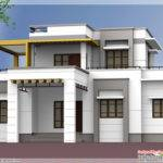Contemporary Flat Roof Bedroom Home Design Vatakara