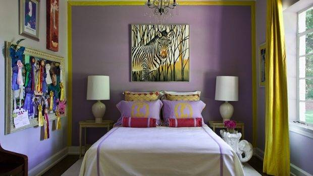 Contemporary Girl Room Driscoll Design Group Rooms Yellow Curtains