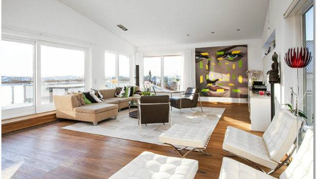 Contemporary High Ceilings Wall Art Apartment