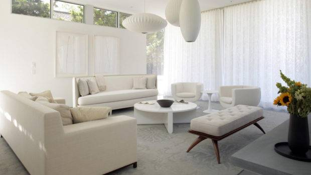 Contemporary Modern White Living Room Decorating Ideas
