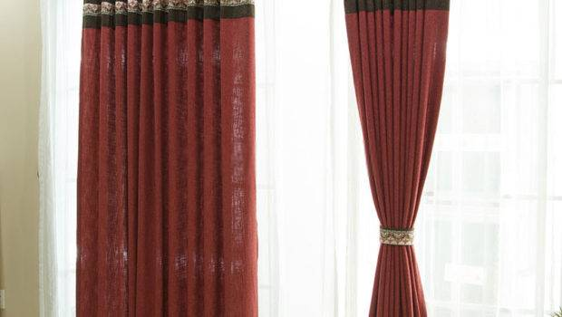 Contemporary Panel Curtains Colors Stitching Design