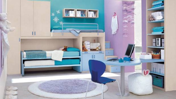 Contemporary Purple Blue Bedroom Ideas Small Study