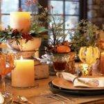 Contemporary Thanksgiving Table Decorate