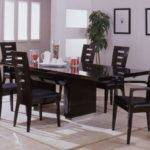 Contemporary Wenge Dining Room Set Extendable Table