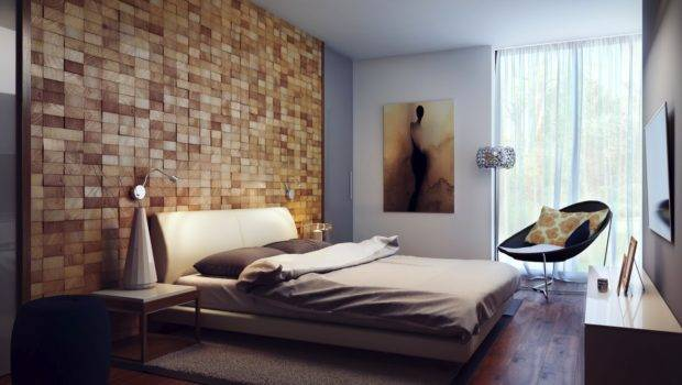 Contemporary Wood Block Headboard Wall Design Liftupthyneighbor