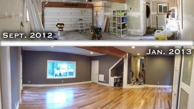 Converted Garage Into Living Room Pretty Happy Results