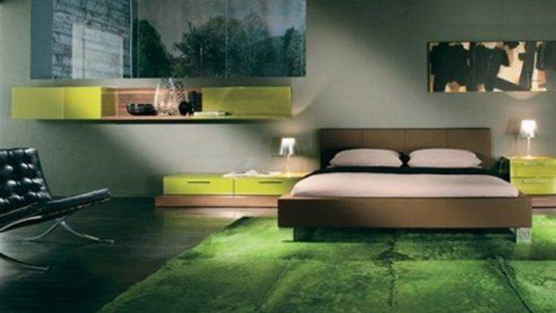 Cool Bedroom Interior Design Green Grass Carpet Bookmark