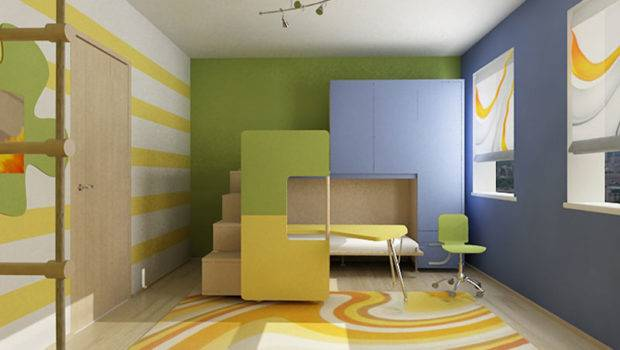 Cool Colorful Kids Room Ideas Bedroom Design Interior