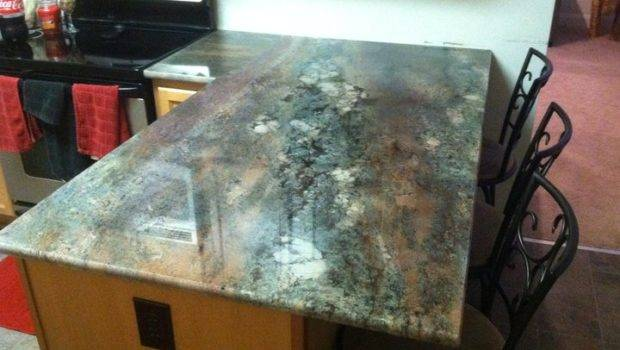 Cool Colors Custom Kitchen Countertop Capitol Granite