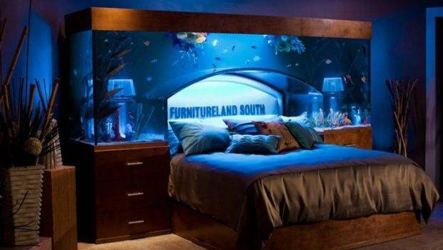 Cool Custom Fish Tank Headboard Your Bed Wedding Decorations