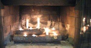 Cool Ideas Fireplace Candles Design Beautiful