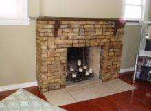 Cool Innovative Natural Stone Faux Fireplaces Surround Design Ideas