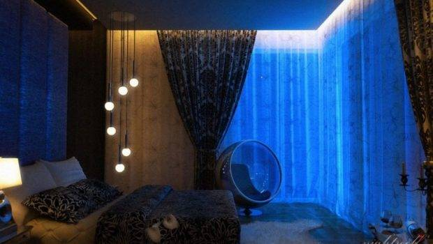 Cool Lighting Bedroom Blue Idea