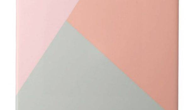 Cool Modern Pastel Colors Abstract Pattern Small Square