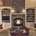Cool Stacked Stone Fireplace Ideas Brick