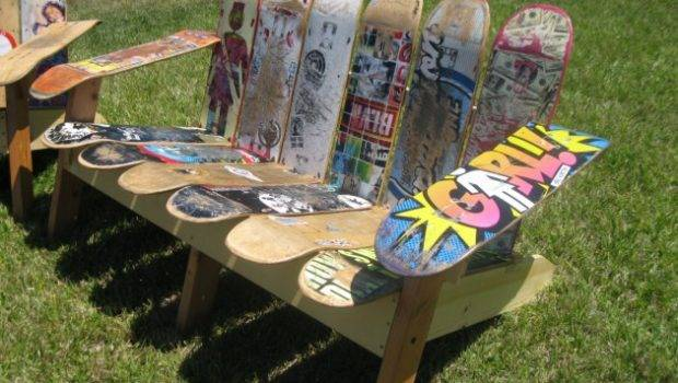 Cool Ways Repurpose Old Skateboards