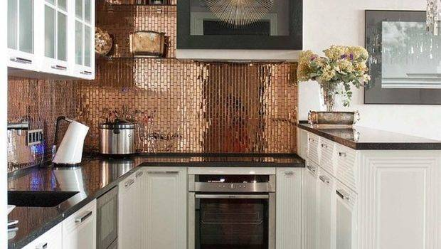 Copper Backsplash Ideas Add Glitter Glam