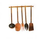 Copper Kitchen Utensils Rack Decor