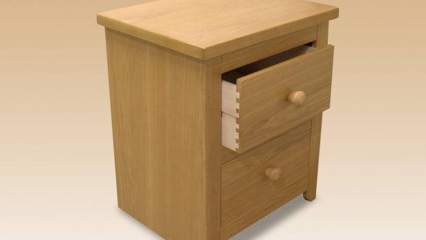 Core Flat Packed Hamilton Ash Drawer Small Bedside Cabinet