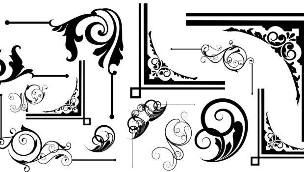 Corner Designs Vector Ornament