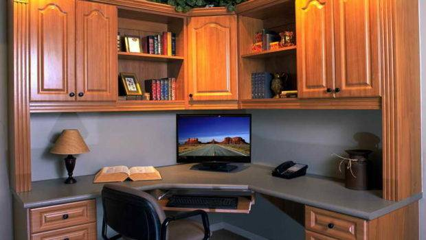 Corner Office Cabinet Small Space
