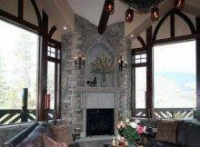 Corner Stone Fireplace Designs Ideas