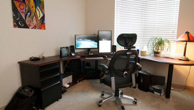 Corner Workstations Home Office Working