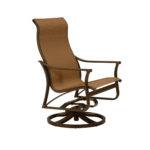 Corsica Sling Aluminum High Back Swivel Action Lounge Chair